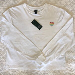 Wild Fable NWT Long-Sleeve White Teeshirt Size M